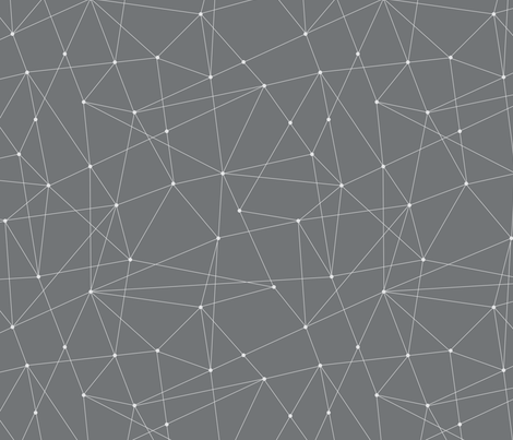 constellations - grey fabric by jillbyers on Spoonflower - custom fabric