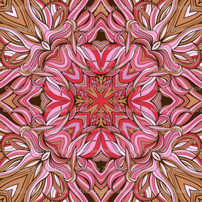 mandala-style seamless pattern made of floral elements
