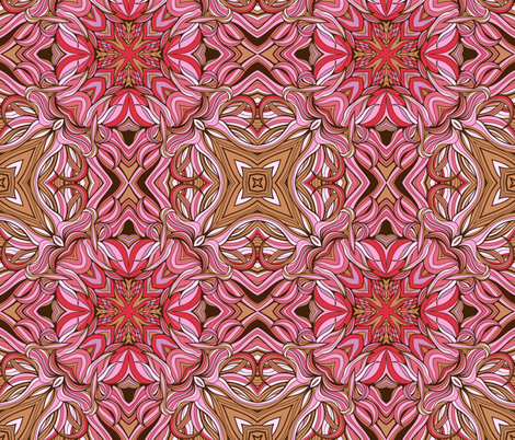 mandala-style seamless pattern made of floral elements fabric by nadiiaz on Spoonflower - custom fabric