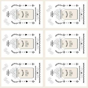 quilt squares 4 - tea towel flower market jug- creamery