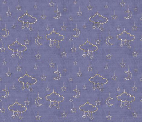 douce nuit storm glitter fabric by un_temps_de_coton on Spoonflower - custom fabric