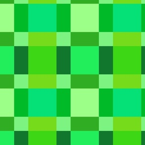 Shades of Green Quilting Squares