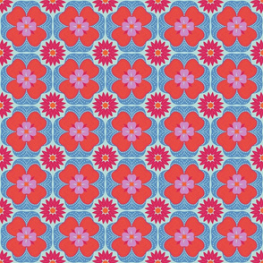 "Moroccan Floral 4.5"" Repeat"