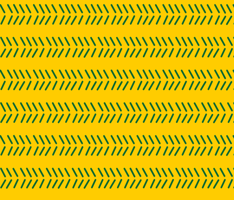 Mudcloth 3 - OFFICIAL Green & Gold fabric by kelly_korver on Spoonflower - custom fabric