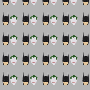 Joker and Batman Heads