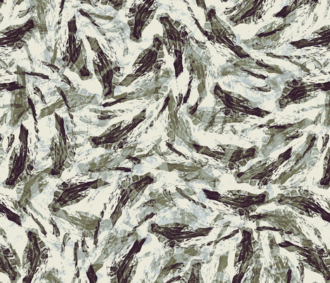 birds_ink_white_black fabric by wren_leyland on Spoonflower - custom fabric