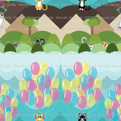 Animals by Air Flying Kitties, Succulent wreath, Cats, Balloons, Kittens