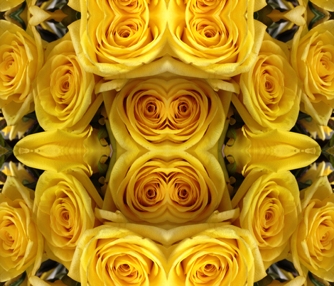 Roses Yellow Rolls fabric by fabric_is_my_name on Spoonflower - custom fabric
