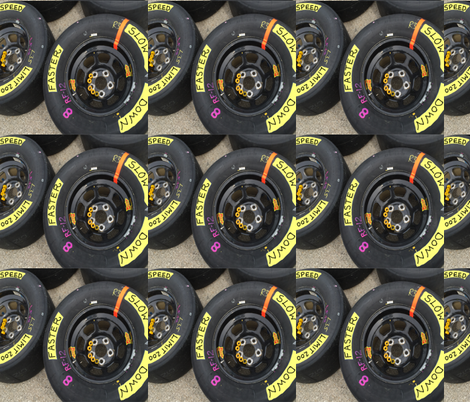 Race Car Tires fabric by fabric_is_my_name on Spoonflower - custom fabric