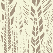 Beige Flax Leaves