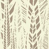 Beige Flax Leaves
