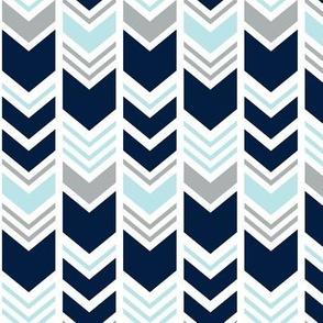 Chevron // Navy/Blue/Grey