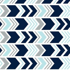 Chevron // Navy/Blue/Grey  (90)