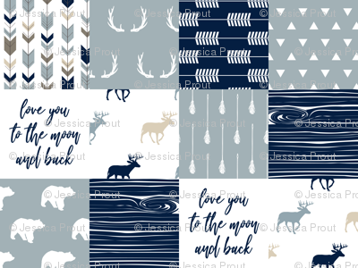 little adventurer blue - love you to the moon and back C18BS
