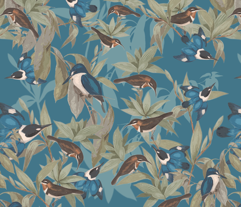 Stand on the top fabric by fishwalk on Spoonflower - custom fabric