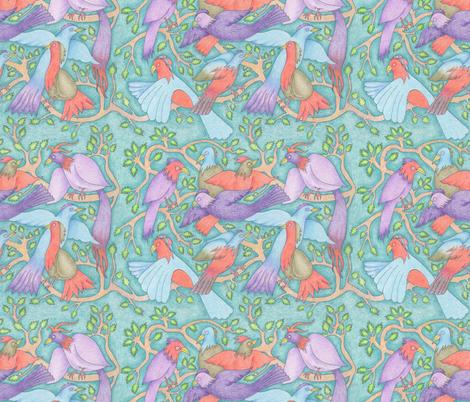 violet wings fabric by margiecampbellsamuels on Spoonflower - custom fabric