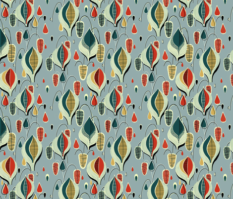 Atomic Raindrops Big fabric by fenderskirt on Spoonflower - custom fabric