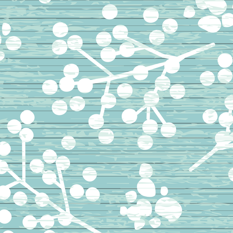 Farmhouse Twigs - Light Teal fabric by sarah_treu on Spoonflower - custom fabric
