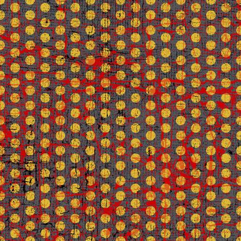 samurai dots yellow textured fabric by susiprint on Spoonflower - custom fabric