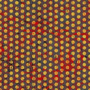 samurai dots yellow textured
