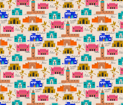 City of Marrakesh fabric by miri_d on Spoonflower - custom fabric