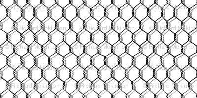 Black and White Chicken Wire