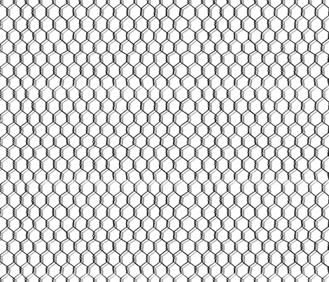 Black and White Chicken Wire  fabric by stitchyrichie on Spoonflower - custom fabric