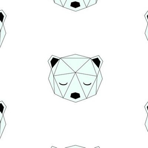 Geometric Bear - Mint