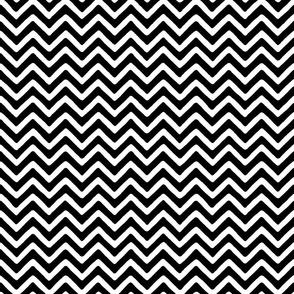 Simple Chevron Stripe black white mix