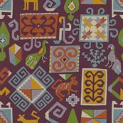 Moroccan carpet (dark red)