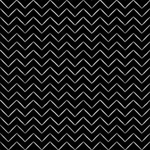 Light Chevron Stripe black white mix