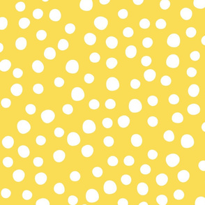 Jumbo spring flower dots yellow