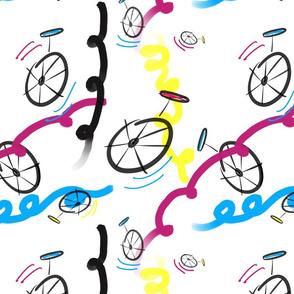 Happy Unicycles - White