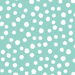 Jumbo spring flower dots mint