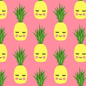 happy pineapples - pink