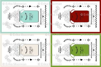 quilt square 8 - jug mix creamery mint pickle rustic red