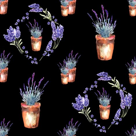 Rwatercolor-lavender-garden-pots-and-wreath-black-by-floweryhat_shop_preview