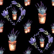 Rwatercolor-lavender-garden-pots-and-wreath-black-by-floweryhat_shop_thumb