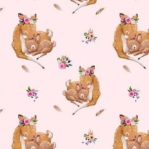 "4"" Boho Mama Deer Love - Pink"