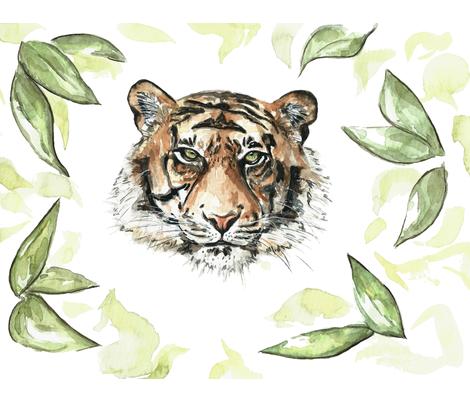 Sumatran Tiger fabric by natatusich on Spoonflower - custom fabric