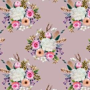 "4"" Boho Deer Love Florals - Mauve"