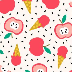Jumbo Apple summer ice cream party pink