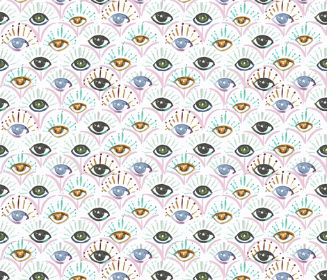 Mystical Tiger Eyes fabric by crystal_walen on Spoonflower - custom fabric