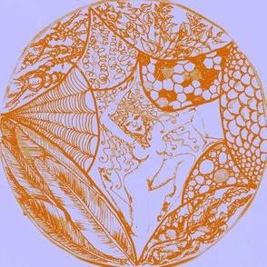 Among the textural pleasures OrangeOnMauve-Mirrored