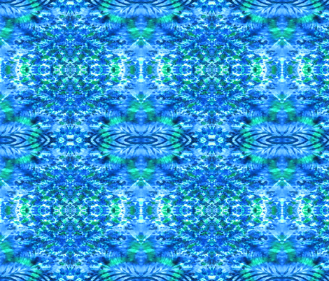 Ripple in a Blue Lagoon fabric by just_meewowy_design on Spoonflower - custom fabric