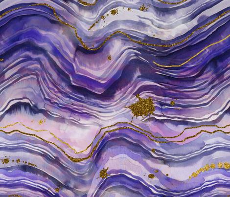 purple geode fabric by karismithdesigns on Spoonflower - custom fabric
