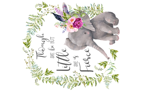 "56""x36"" Though She Be But Little Elephant fabric by shopcabin on Spoonflower - custom fabric"