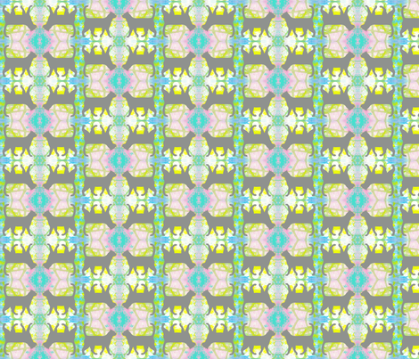 Gray Cats Pastel Silhouette fabric by peaceofpi on Spoonflower - custom fabric