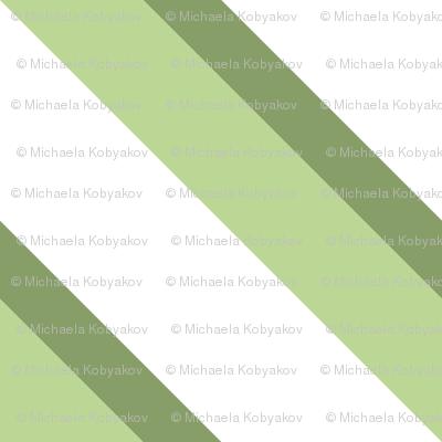 diagonal stripes light green  - large