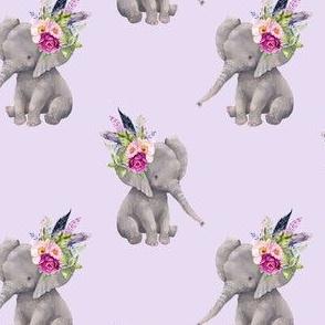 """4"""" Boho Lilac Elephant - Lilac"""